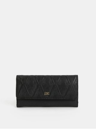 Černá velká peněženka s plastickým vzorem Gionni Hebe
