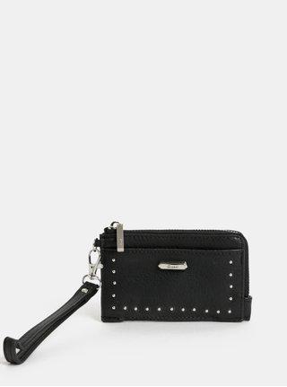 Černá malá peněženka s detaily ve stříbrné barvě Gionni Camelia