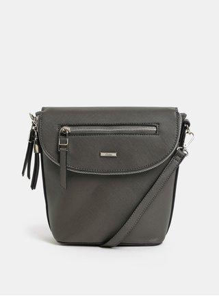 Tmavě šedá kabelka/batoh s detaily ve stříbrné barvě Gionni Iris
