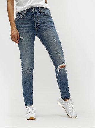 Modré dámské skinny džíny s potrhaným efektem Levi s® 7f2f61fcb8