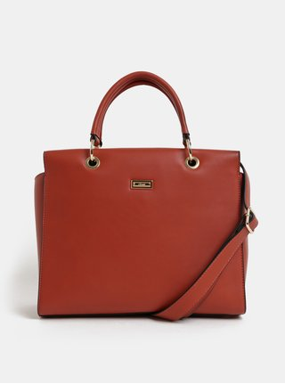 Tehlová kabelka s detailmi v zlatej farbe Gionni Cleo Top