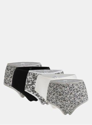 Set de 5 chiloti gri, alb si negru M&Co