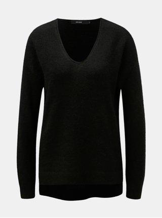 Černý svetr s příměsí vlny VERO MODA Cuddle