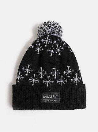 Bílo-černá unisex vzorovaná čepice Meatfly