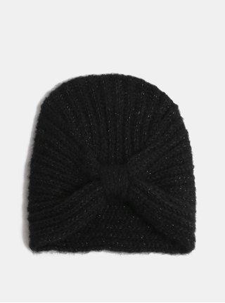 Černá lesklá čepice ONLY Tappa