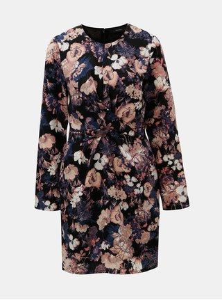 Černé květované šaty VERO MODA Marlene
