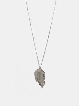 Náhrdelník ve stříbrné barvě s přívěšky ve tvaru listů Pieces Kit