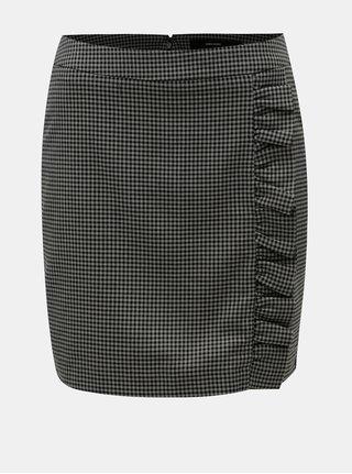 Čierno–sivá vzorovaná minisukňa VERO MODA Ylva