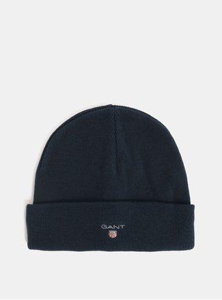 Tmavě modrá unisex čepice s vyšitým logem GANT Logo Hat
