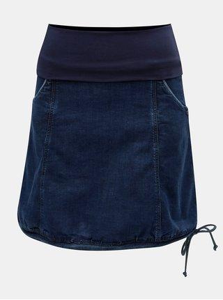 Tmavě modrá džínová sukně s elastickým pásem Tranquillo Melaina