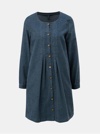 Modré manšestrové šaty Tranquillo Pinga