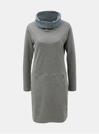 Šedé šaty s límcem Tranquillo Vili