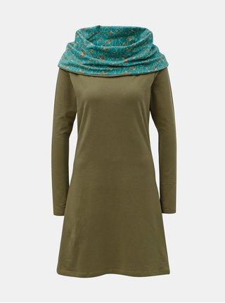 Khaki šaty s límcem Tranquillo Thallo