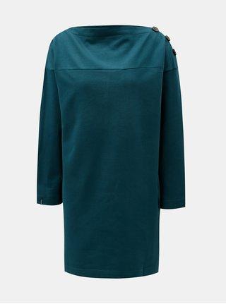 Tmavě zelené volné mikinové šaty Tranquillo Umay