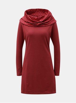 Červené šaty s límcem Tranquillo Thallo