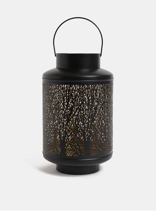 Černá velká kovová lucerna  Dakls
