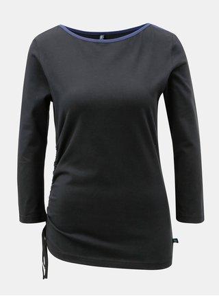 Tricou negru cu snururi laterale Tranquillo Ceres