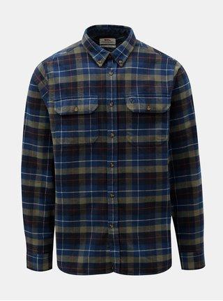 Modrá pánská károvaná flanelová košile Fjällräven Singi