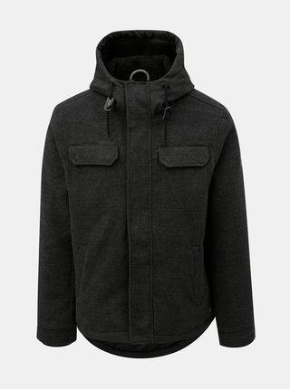 Sivá pánska zimná bunda s kapucňou Ragwear