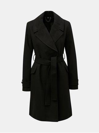 Čierny tenký kabát s opaskom Dorothy Perkins