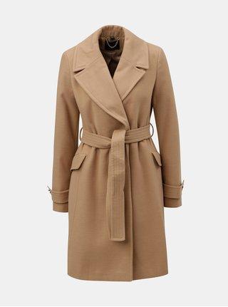 Béžový tenký kabát s opaskom Dorothy Perkins