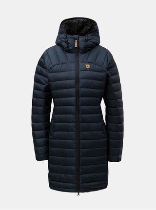 Tmavě modrý dámský péřový prošívaný zimní kabát Fjällräven Snow Flake