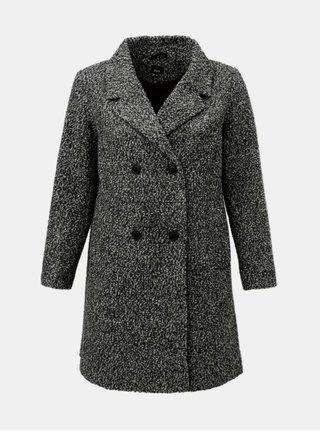 Sivý melírovaný vlnený kabát Zizzi