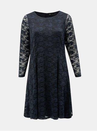 Tmavomodré šaty s dlhým rukávom Zizzi