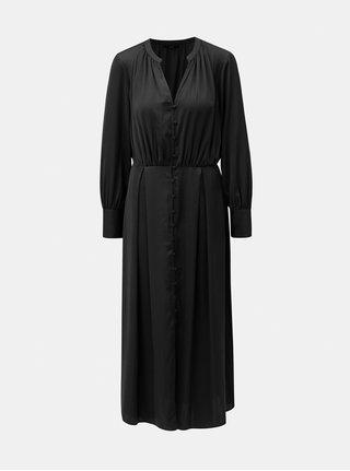 Černé košilové maxišaty VERO MODA Tassy