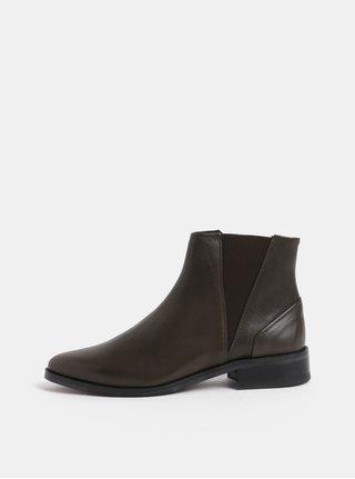 Khaki dámské kožené chelsea boty Royal RepubliQ