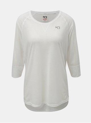 Bílé funkční tričko s 3/4 rukávem Kari Traa Julie