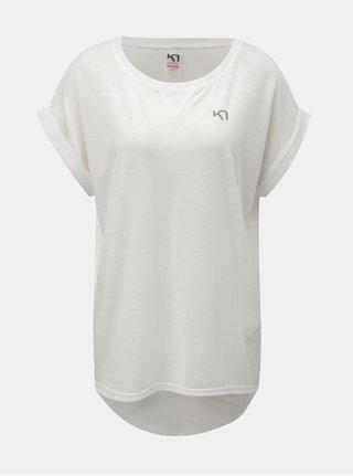 Bílé volné funkční tričko s krátkým rukávem Kari Traa Julie