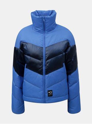 Modrá péřová nepromokavá bunda s límcem Kari Traa Haugo