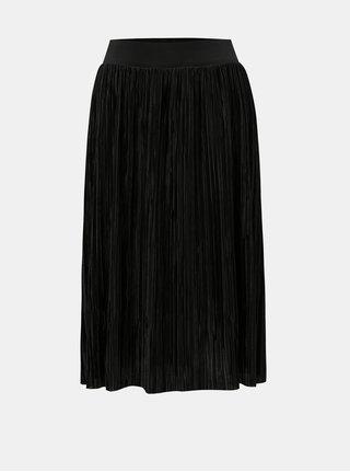 Čierna plisovaná sukňa Noisy May Elsa