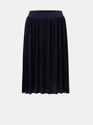 Tmavomodrá plisovaná sukňa Noisy May Elsa
