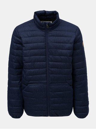 Tmavě modrá pánská prošívaná voděodolná zimní bunda Quiksilver Scaly