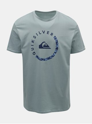Světle modré pánské regular fit tričko s potiskem Quiksilver Slab Sessions