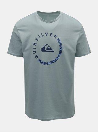 Svetlomodré pánske regular fit tričko s potlačou Quiksilver Slab Sessions