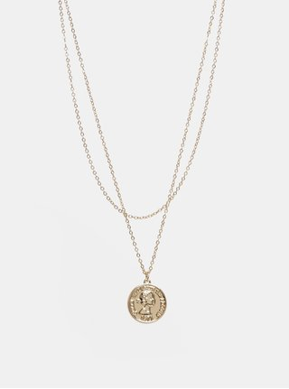 Náhrdelník ve zlaté barvě s motivem mince Pieces Cohio
