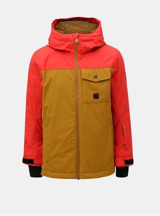 Červeno-hnědá klučičí funkční zimní bunda Quiksilver Miss Solyth
