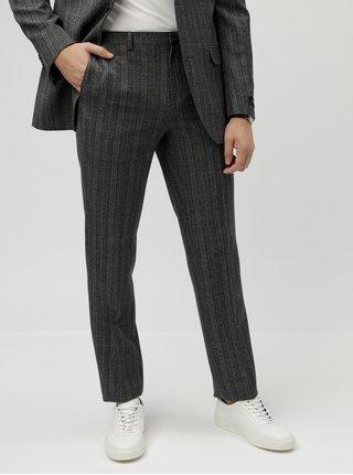 Šedé kostkované oblekové kalhoty Burton Menswear London Pow
