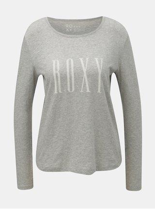 Tricou gri melanj de dama cu imprimeu Roxy Sunset