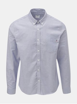 Camasa albastru deschis cu buzunar la piept Burton Menswear London