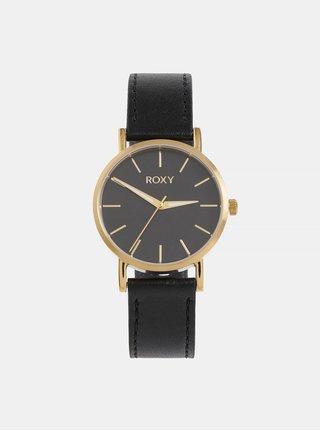 Dámské hodinky s černým koženým páskem Roxy Maya
