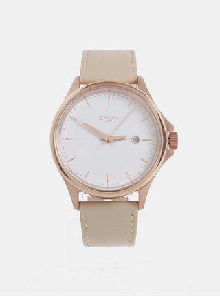 Dámske hodinky s béžovým koženým remienkom Roxy Messenger