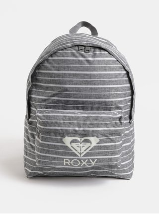 Šedý dámský pruhovaný batoh Roxy Sugar Baby 16 l