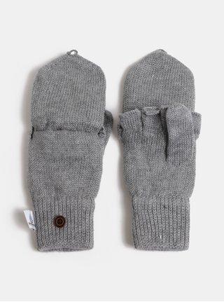 Svetlosivé dámske rukavice s prímesou vlny Roxy Frozen Jaya