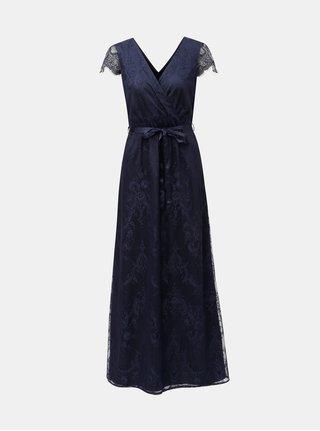 Tmavě modré krajkové maxišaty Dorothy Perkins Isla