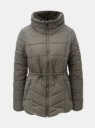 Khaki prošívaná voděodolná zimní bunda M&Co