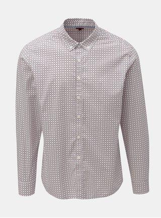 Svetloružová vzorovaná košeľa s dlhým rukávom Merc